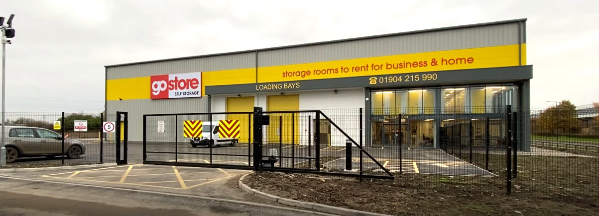 200m V Mesh Security Fencing & Automated Gate Installation for GoStore, Monks Cross Drive in York
